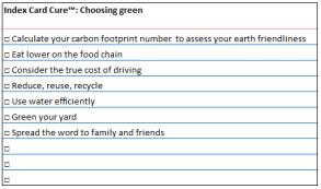 index card greening week 7