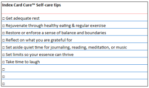 self care tips week 6
