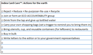 actions for the earth