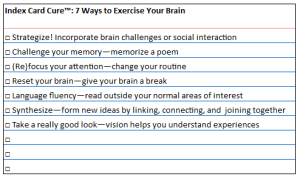 ICC brain exercises