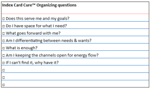 release organizing questions