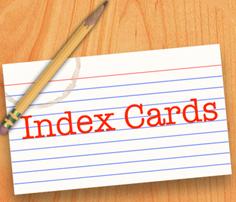 Index card pencil