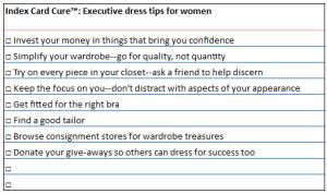 ICC wardrobe tips
