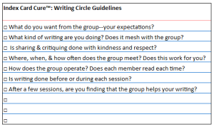 ICC writing circle guidelines