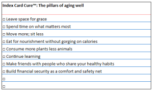 IC pillars of aging