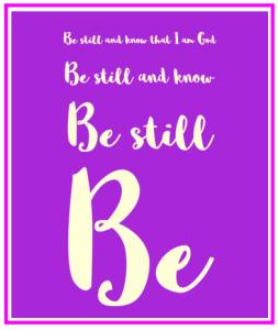 advent-be-still