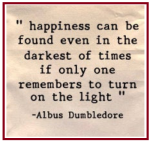 HP dumbledore turn on the light